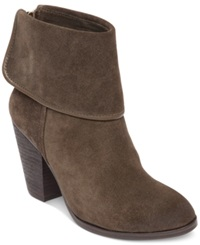 Vince Camuto Hamilton Fold Over Booties Women's Shoes Wild Mushroom
