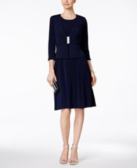 Jessica Howard A Line Dress And Embellished Jacket Navy