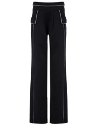 Derek Lam Black Satin Pyjama Trousers