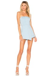 By The Way Avery Strapless Romper Baby Blue