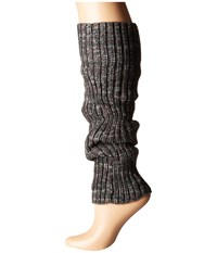 Steve Madden Marled Rib Leg Warmer Grey Women's Knee High Socks Shoes Gray