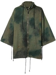 Toogood The Explorer Camouflage Coat Cotton Green