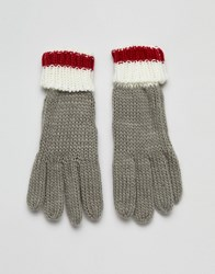 French Connection Colourblock Glove Grey