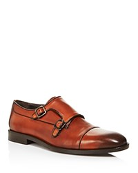 Canali Stock Double Monkstrap Loafers Brown