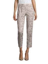 Peserico Zig Zag Patterned Cropped Pants Dark Taupe