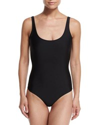 Cover One Piece Upf 50 Tank Swimsuit Black