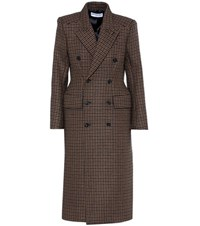 Balenciaga Wool Blend Coat Brown