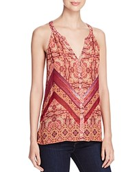 Sanctuary Border Print Tank Sunset Boho