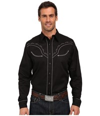 Roper Tribal Star Black Men's Long Sleeve Button Up