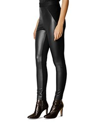 Karen Millen Faux Leather Leggings Black