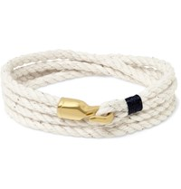 Miansai Trice Rope And Gold Plated Hook Wrap Bracelet Off White