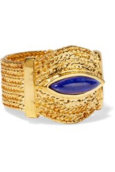 Aurelie Bidermann Sunset Gold Plated Lapis Lazuli Ring 52