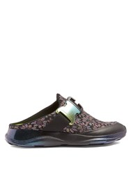 Christopher Kane Floral Jacquard Trainer Slides Black Multi