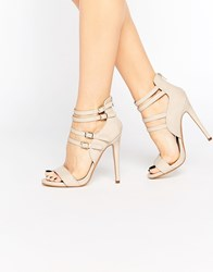 Truffle Collection Rita Strappy Heeled Sandals Beige