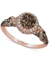 Le Vian Chocolatier Diamond Ring 1 1 6 Ct. T.W. In 14K Rose Gold