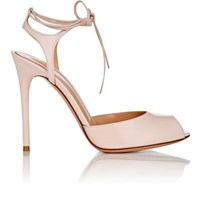 Gianvito Rossi Women's Muse Patent Leather Ankle Tie Sandals Light Pink