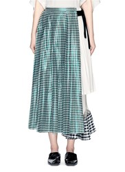Toga Archives Gingham Check Pleated Wrap Skirt Multi Colour