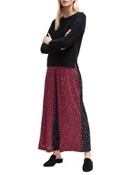 French Connection Aubine Culotte Trousers Mimosa Black