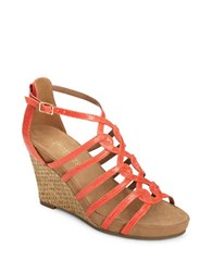 Aerosoles Great Plush Wedge Sandals Coral