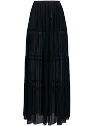 Fisico Panelled Long Skirt Black