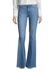 Derek Lam Noha Flared Tuxedo Stripe Jeans Light Wash