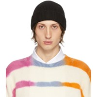 The Elder Statesman Black Fisher Bob Beanie