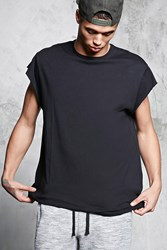 Forever 21 Crew Neck Raw Cut Tee