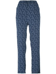 Woolrich Printed Straight Trousers Blue