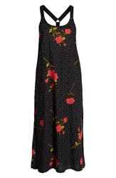 Volcom End Of The Rose Midi Dress Black