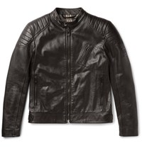 Belstaff Sandway Leather Biker Jacket Black