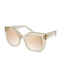 Barton Perreira Olina Chunky Mirrored Universal Fit Cat Eye Sunglasses Champagne