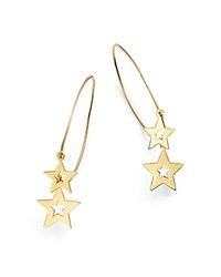 Moon And Meadow Double Star Wire Drop Earrings In 14K Yellow Gold 100 Exclusive