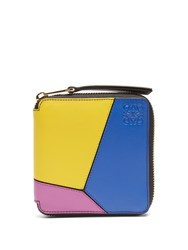 Loewe Puzzle Zip Around Small Leather Wallet Multi