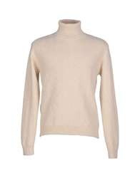 Gray Turtlenecks Beige