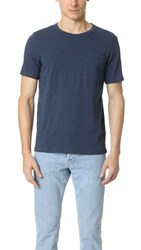 Club Monaco Short Sleee Slub Pocket Crew Neck Tee Cerulean Blue