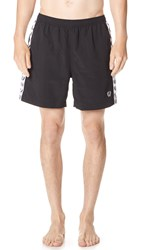 Fred Perry Taped Swim Trunks Black