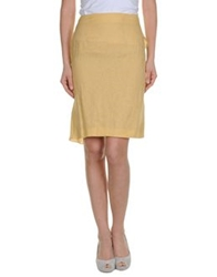 Antonio Fusco Knee Length Skirts Ocher