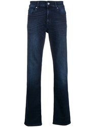 7 For All Mankind Luxe Performance Straight Leg Jeans Blue