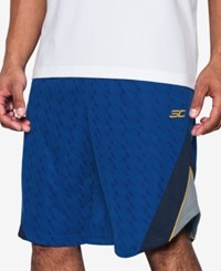 Under Armour Men's Stephen Curry Basketball Shorts Royal Blue