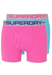 Superdry 2 Pack Shorts Ecko Pink Hawaii Blue Neon Pink