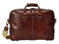 Bosca Dolce Collection Zip Top Brief Dark Brown Briefcase Bags