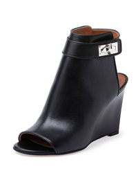 Givenchy Shark Lock Wedge Bootie Black