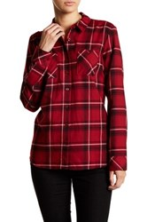 Bcbgeneration Plaid Spread Collar Shirt Pink