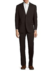 Tommy Hilfiger Wool Blend Solid Suit Charcoal