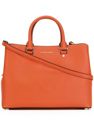 Michael Kors Logo Plaque Tote Bag Yellow Orange