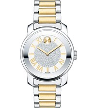 Movado 3600256 Bold Stainless Steel And Yellow Gold Watch
