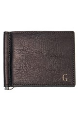 Cathy's Concepts Personalized Leather Wallet And Money Clip Brown