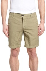 Ag Jeans Wanderer Slim Fit Cotton And Linen Shorts Sulfur Dry Cypress