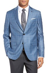 Ted Baker Men's London Tivoli Trim Fit Plaid Wool Sport Coat