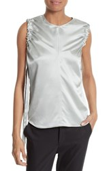 Helmut Lang Women's Ruched Armhole Silk Tank Dew